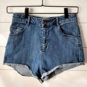 ZARA TRF High Rise 4 Short Jean Shorts